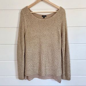 Apt. 9 Gold Knit Sweater with Undershirt